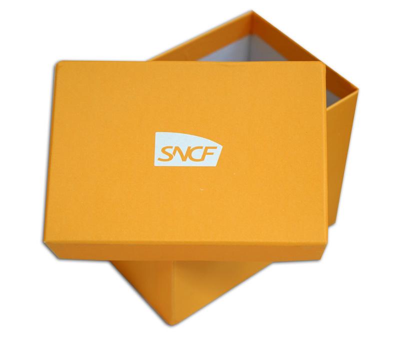 Boite carton cadeau avec couvercle SNCF