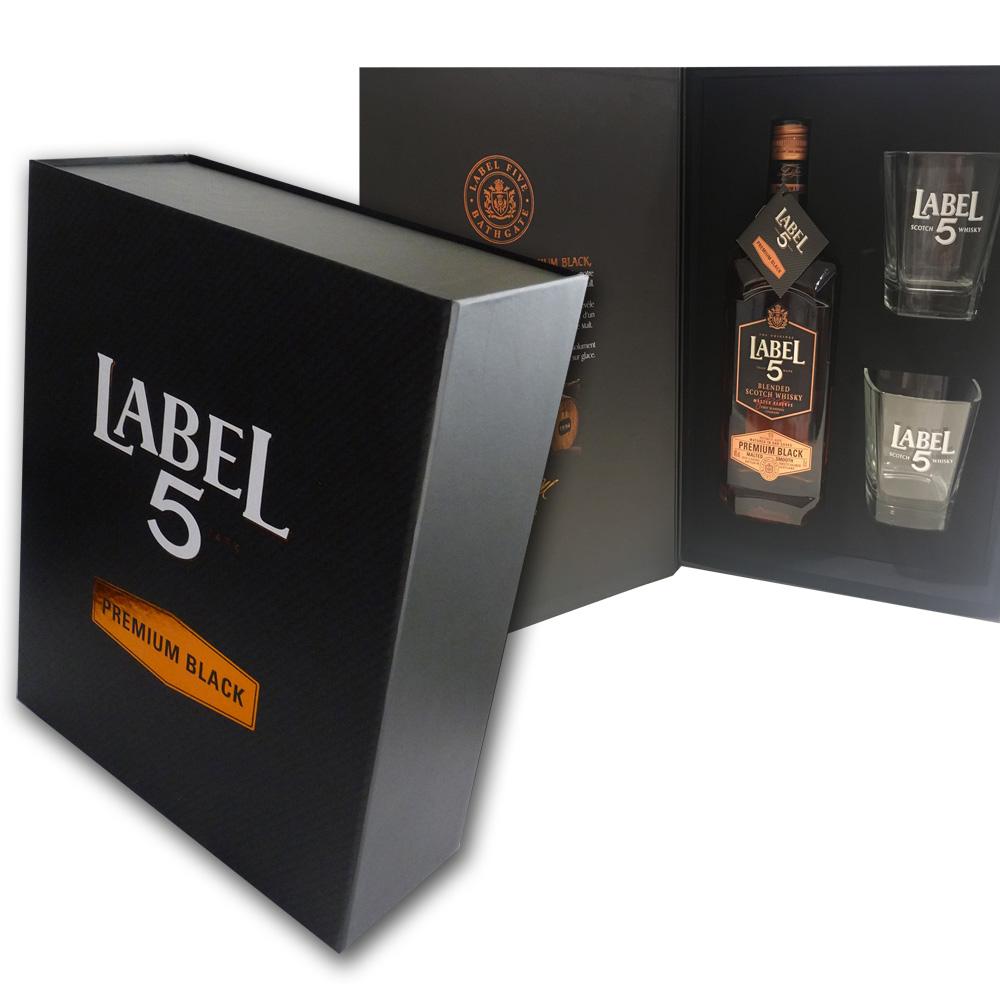 Coffret de présentation Label5 - Boite-livre à fermeture aimants