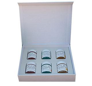 coffret carton échantillons Azur Fragrances