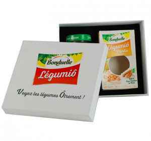Boite carton avec couvercle quadri - Legumio - Bonduelle