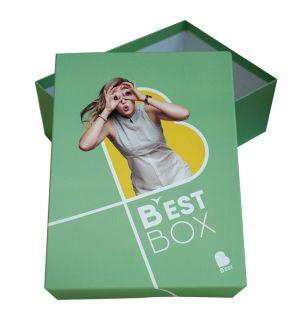 """Boite carton avec couvercle personnalisé quadri """"BEST"""""""