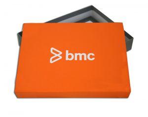 """Boite carton couvercle pour logiciel """"BMC"""""""