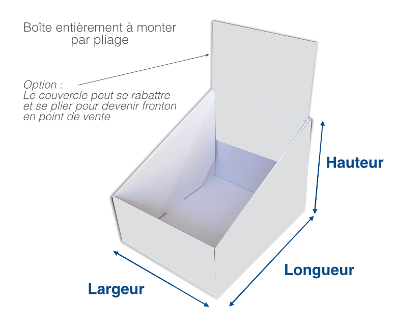La boîte présentoir